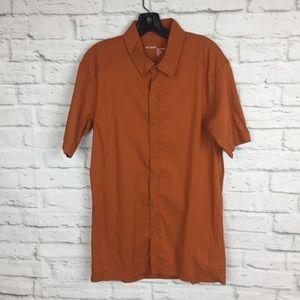 Arc'teryx Mens Button Front Short Sleeve Shirt L